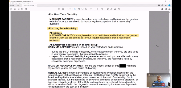 Tutorial: Find Maximum Capacity Language in Group Long-Term Disability (LTD) Contracts